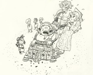 Cartoon by Jake Huffcut