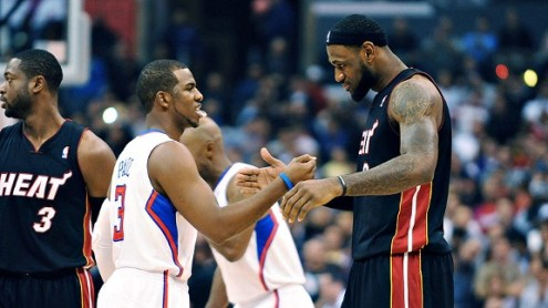 Chris Paul and LeBron James have had a close relationship on and off the court. (Photo courtesy of ESPN)