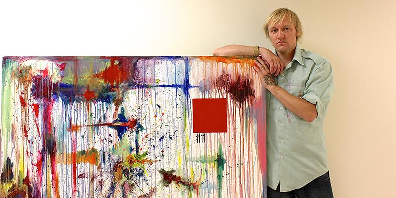 Student has art showcased in Helland Center