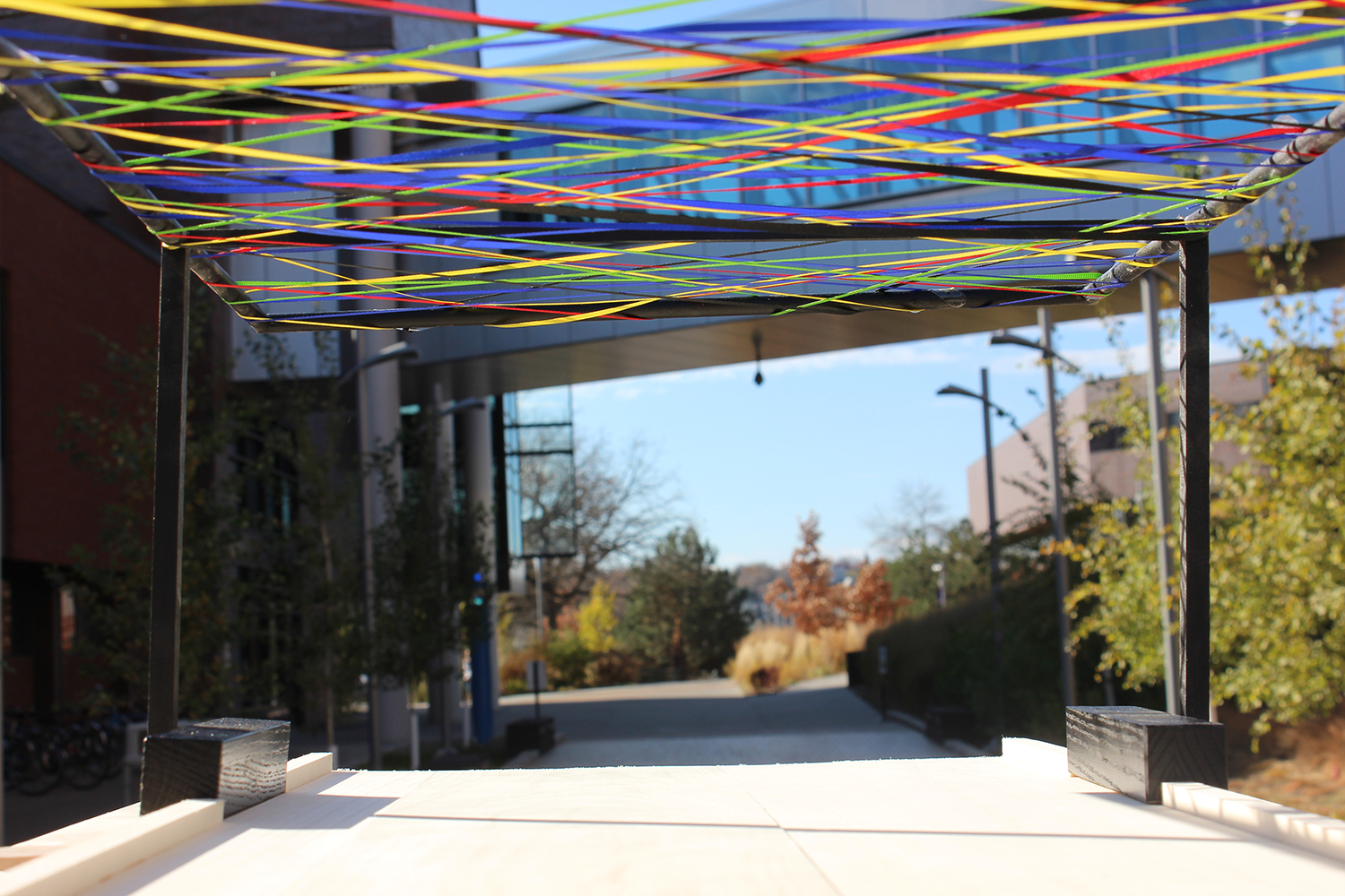 The structure will be built on the walkway outside of the Helland Center. (Photo: Kassidy Curry/City College News)