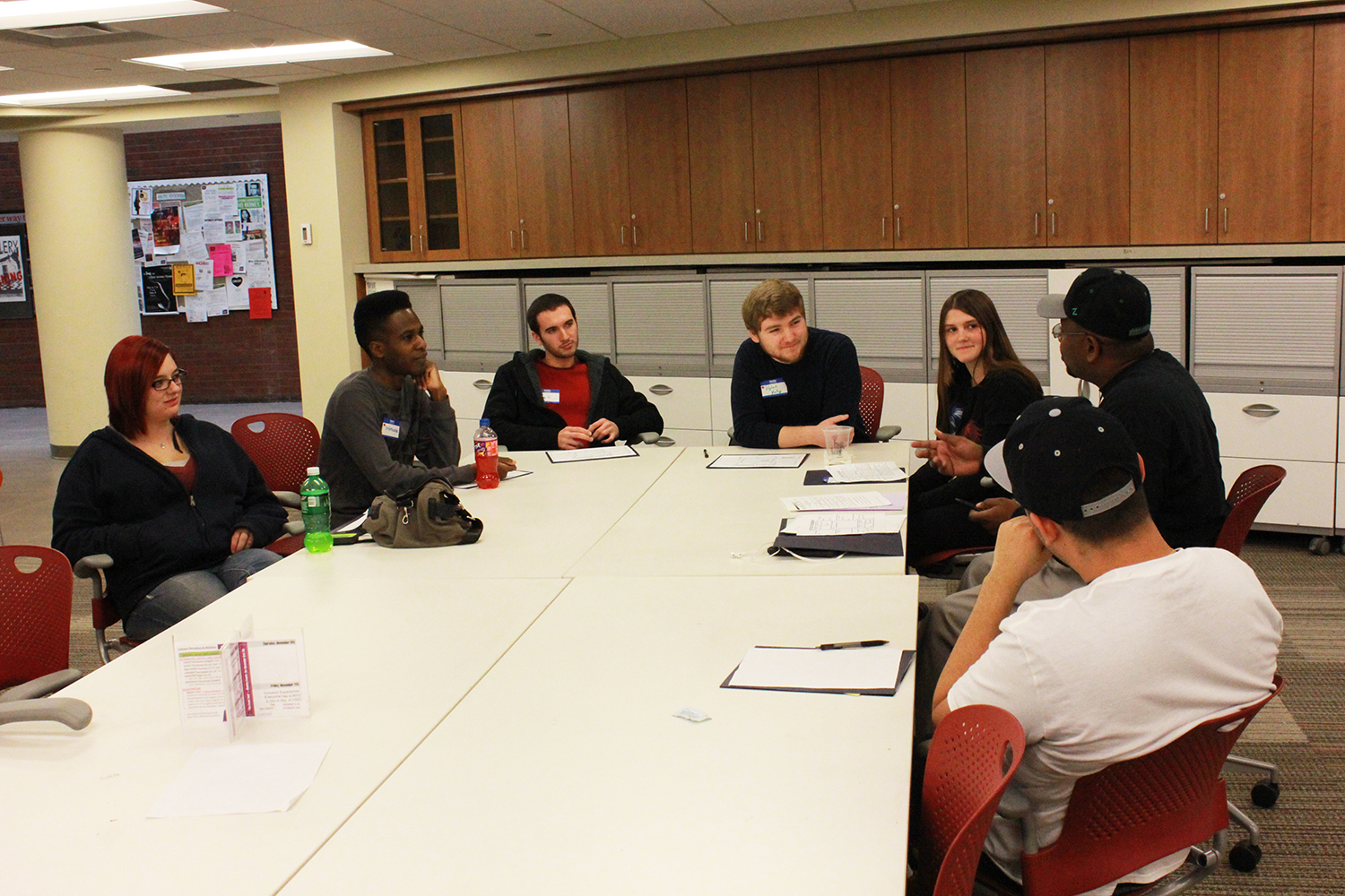 Students share stories to build community