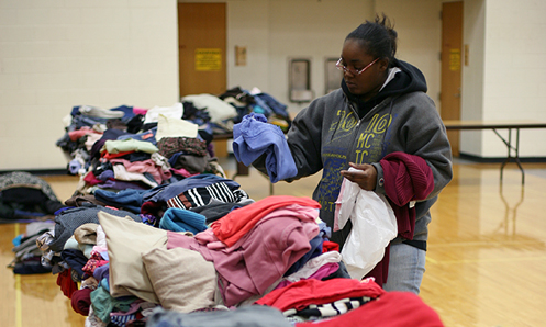 Food and clothing drive helps students in need