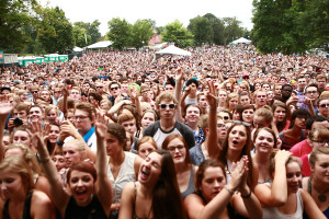 The Cultivate Festival drew a large audience of music-lovers. (Chris Juhn/City College News)