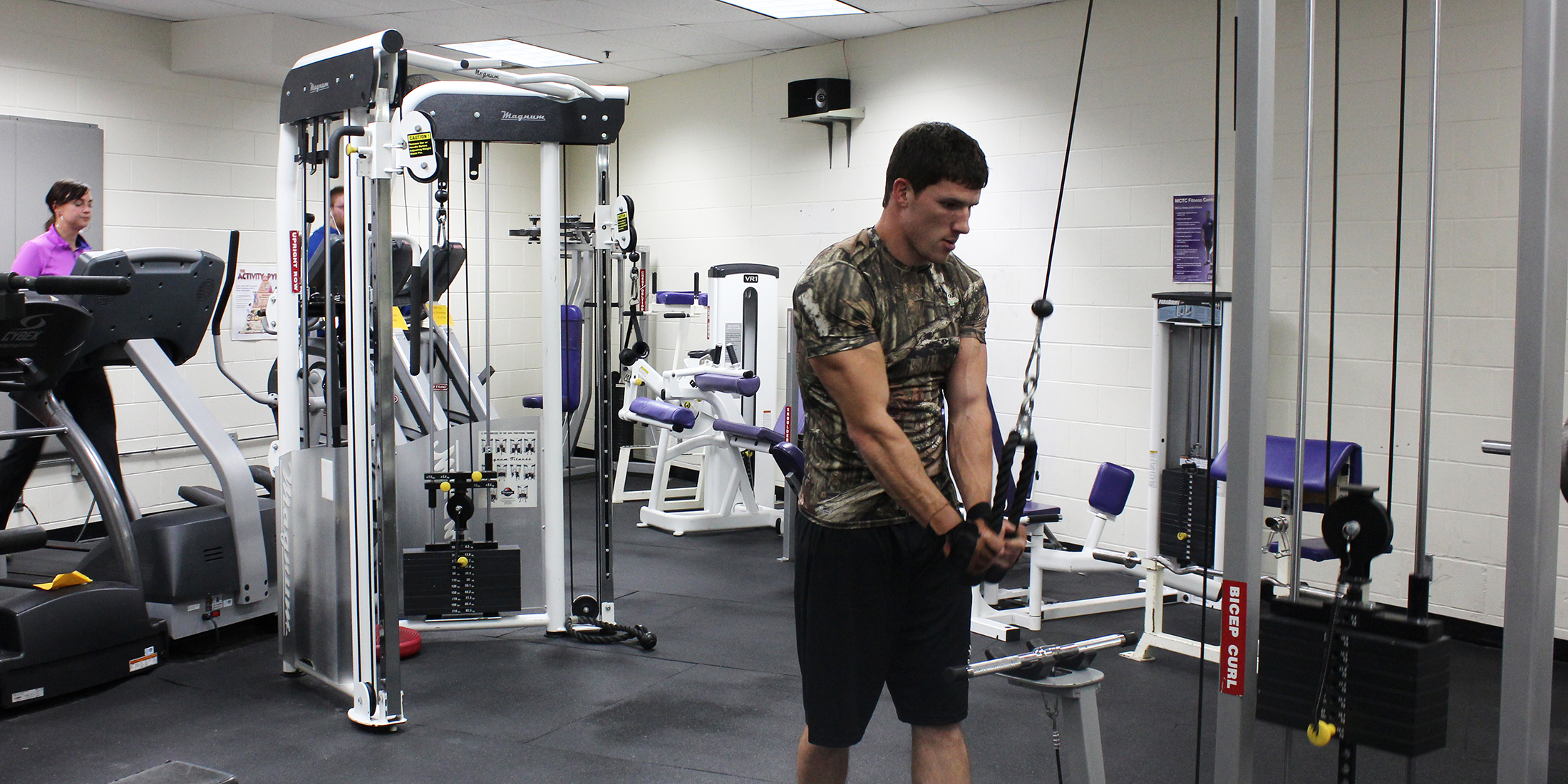 The weight room in the Fitness Center has a variety of machines. (Photo: Kassidy Curry/City College News)