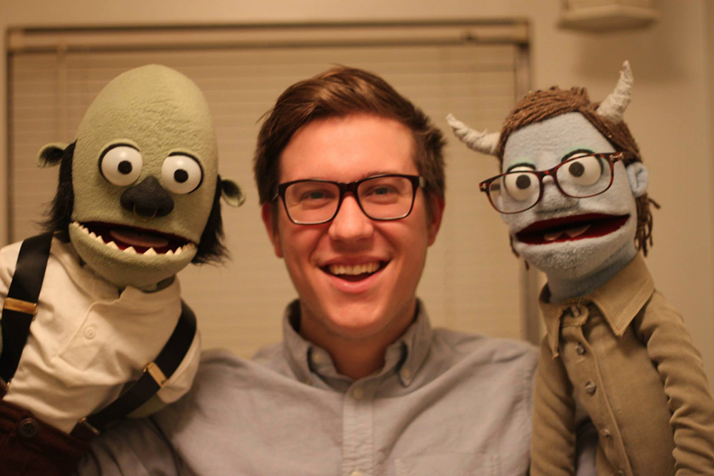 Student creates fuzzy families with 'Brother Puppets'