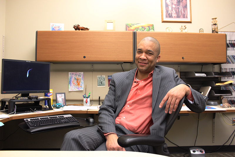 Patrick Troup has been working in higher education for over 10 years. (Photo: Gabe Hewitt/City College News)