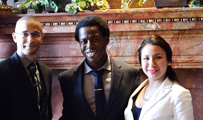 Pictured from left to right: Robert Ellis, Sheldon Fitwi, Estefania Navarro. (Photo: Submitted by Sheldon Fitwi)