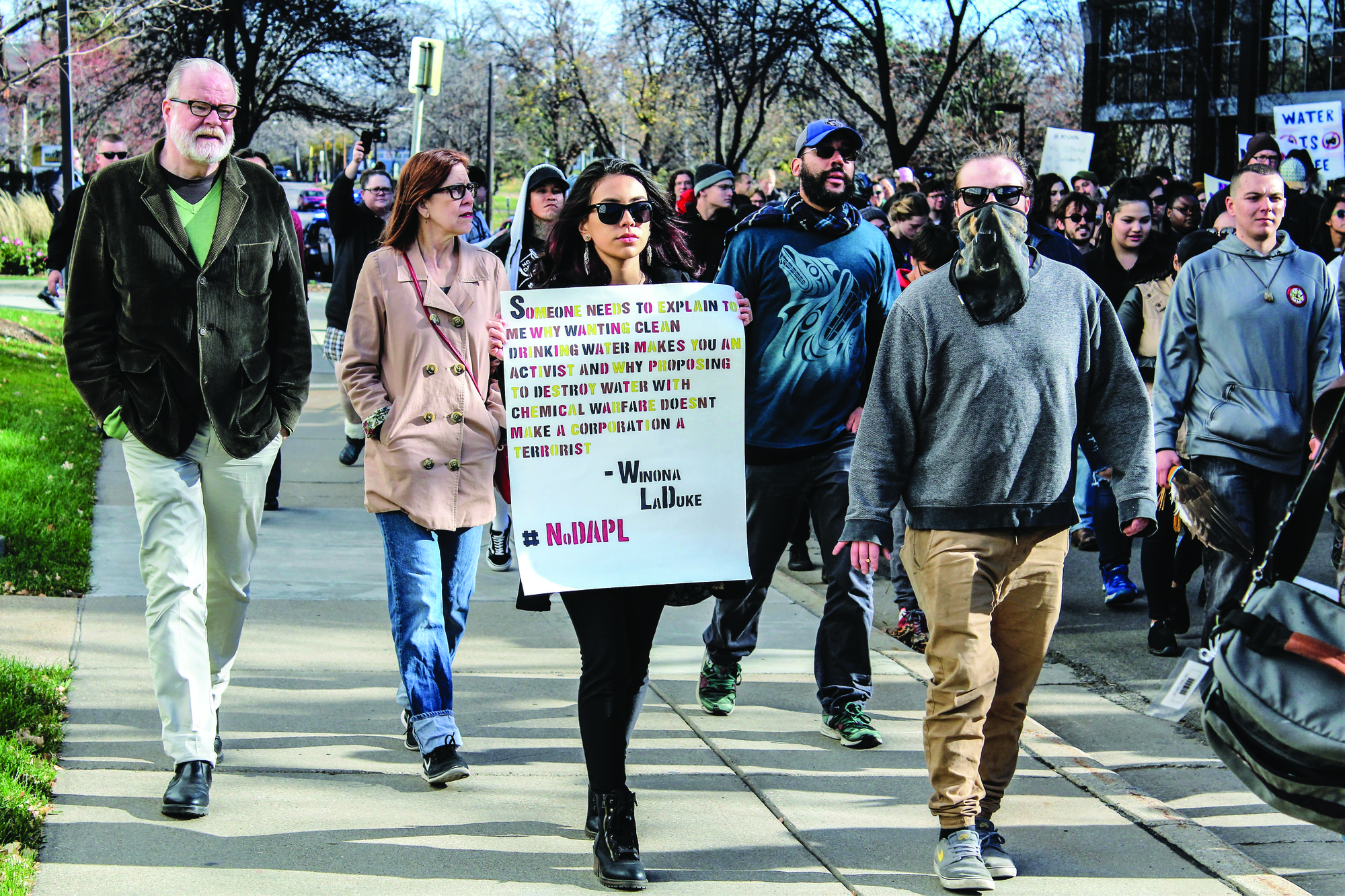 Anti-pipeline protesters march through South Minneapolis