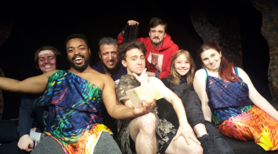 The Diary of Adam & Eve cast - from left to right: Madeline Jacobs, Leonard Searcy, Tarik Salihoglu, Jimmie Lee Bishop, Alex Feia, Vaerna Mayer, Carissa Sommerfeld